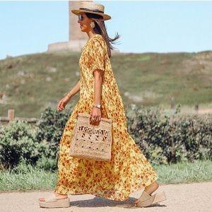 Zara Dresses - ZARA FLORAL PLEATED DRESS